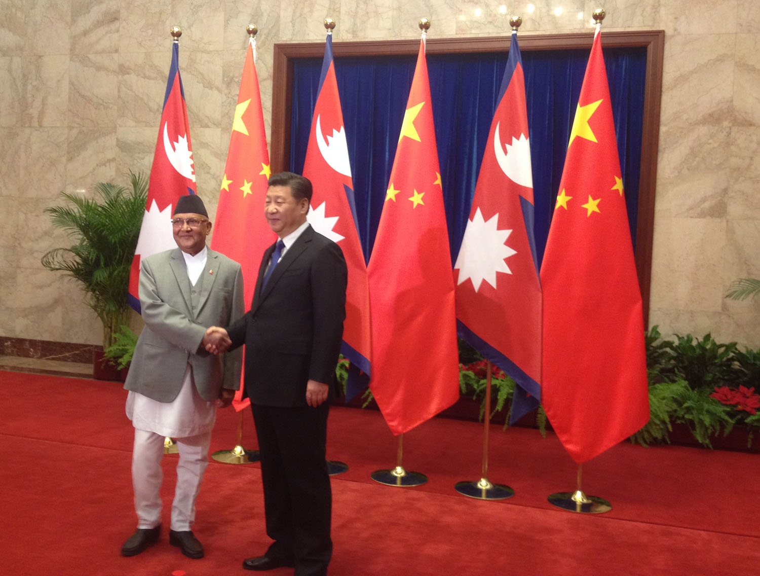 China vows to back Nepal's 'territorial integrity' as two sides sign US $2.4 billion of deals