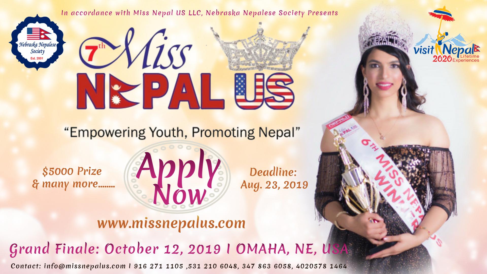 मिस नेपाल यूएस—२०१९ नेब्रास्काको ओमाहामा हुँदै